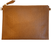 Beau & Ro Clutch + Crossbody Matte Cobra The Matte Cobra Clutch + Crossbody Bag | Tan