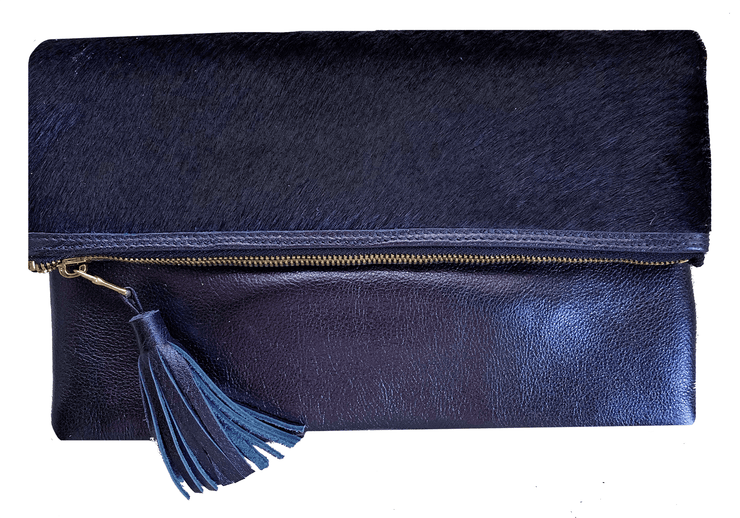 Beau & Ro Clutch + Crossbody Navy The Gramercy Foldover Clutch + Crossbody Bag | Navy