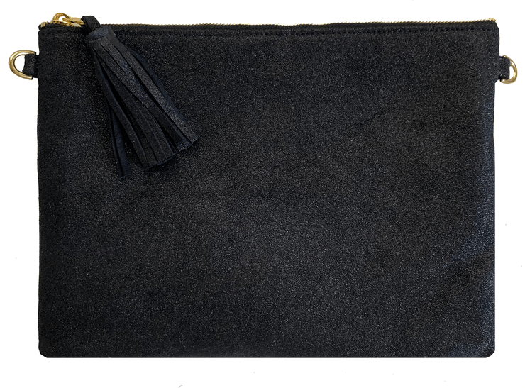 Beau & Ro Clutch + Crossbody Navy The Sparkler Clutch + Crossbody Bag | Black