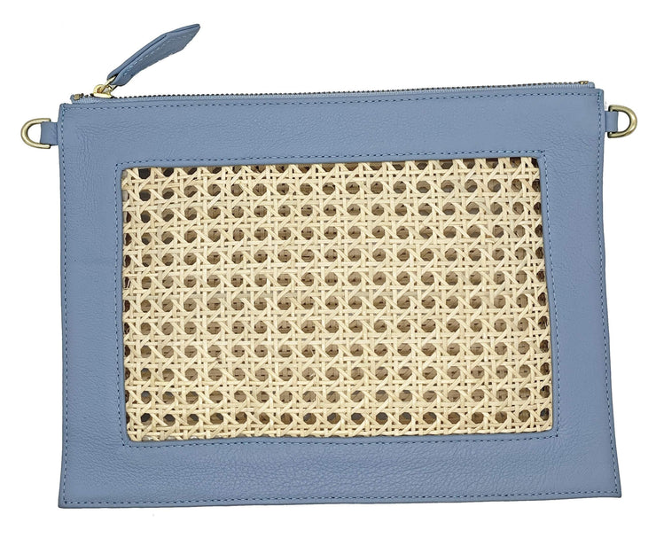 Beau & Ro Clutch + Crossbody New Blue The Cane Clutch + Crossbody Bag | New Blue