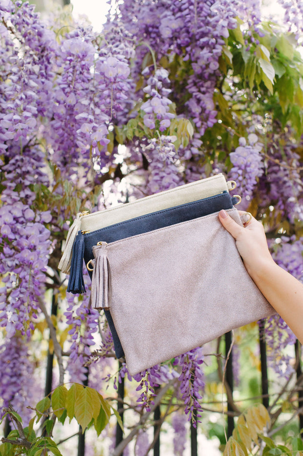 Beau & Ro Clutch + Crossbody Purple The Sconset Clutch + Crossbody Bag | Sparkler Purple
