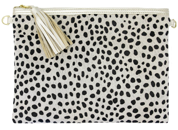 Beau & Ro Clutch + Crossbody The Baby Cheetah Clutch + Crossbody | Pony Hair - Champagne