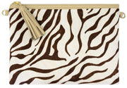 Beau & Ro Clutch + Crossbody The Brown Zebra Clutch + Crossbody | Pony Hair - Latte