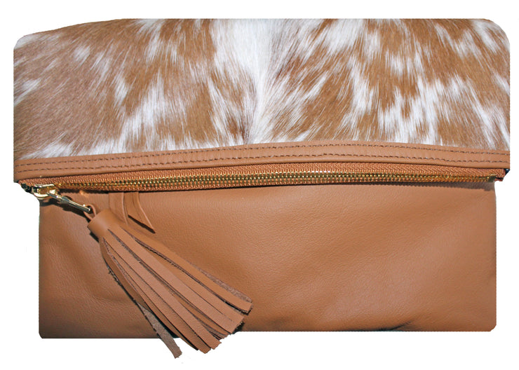 Beau & Ro Clutch + Crossbody The Gramercy Foldover Clutch + Crossbody Bag | Tan Pony