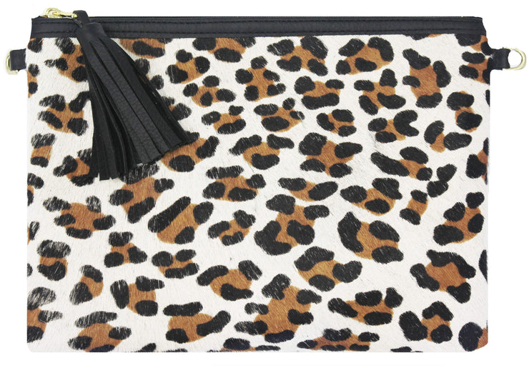 Beau & Ro Clutch + Crossbody The Leopard Clutch + Crossbody | Pony Hair - Black