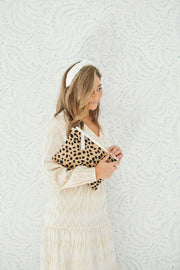 Beau & Ro Clutch + Crossbody The Safari Clutch + Crossbody | Leopard Print Pony Hair