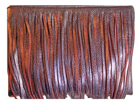 Beau & Ro Clutch + Crossbody The Wild Child Clutch + Crossbody Bag | Rose Gold Fringe