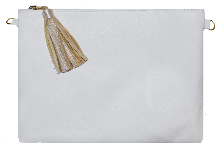 Beau & Ro Clutch + Crossbody White The Sconset Clutch + Crossbody Bag | White