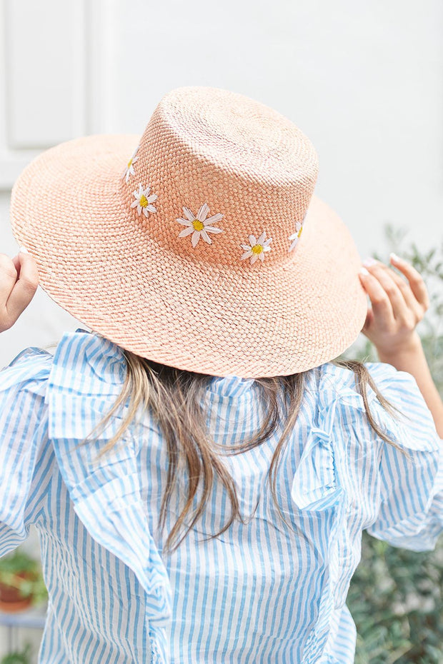 Beau & Ro Hat Limited Edition Garden Party Hat | Daisies on Blush