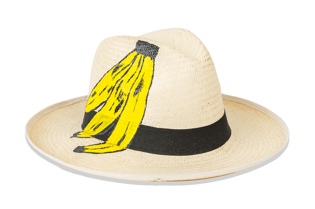 Beau & Ro Hat 4 Pineapples Hand-Painted Hat | Bananas