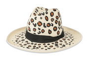 Beau & Ro Hat Natural Hand-Painted Hat | Leopard