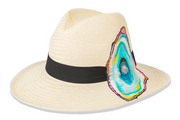 Beau & Ro Hat Natural Hand-Painted Hat | Oysters
