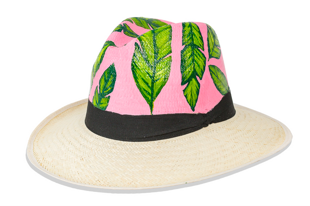 Beau & Ro Hat Natural Hand-Painted Hat | Palm Leaves