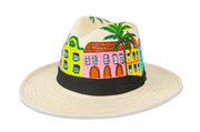 Beau & Ro Hat Natural Hand-Painted Hat | Rainbow Row