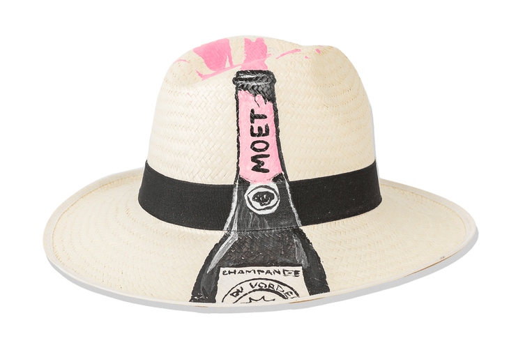 Beau & Ro Hat Natural Hand-Painted Hat | Rosé