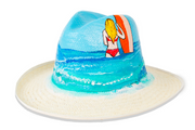 Beau & Ro Hat Natural Hand-Painted Hat | Surfer