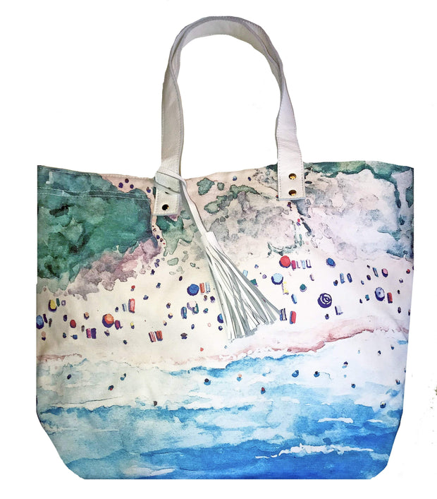 Beau & Ro Tote Beach Meredith Hanson Canvas Beach Tote Collab | Beach