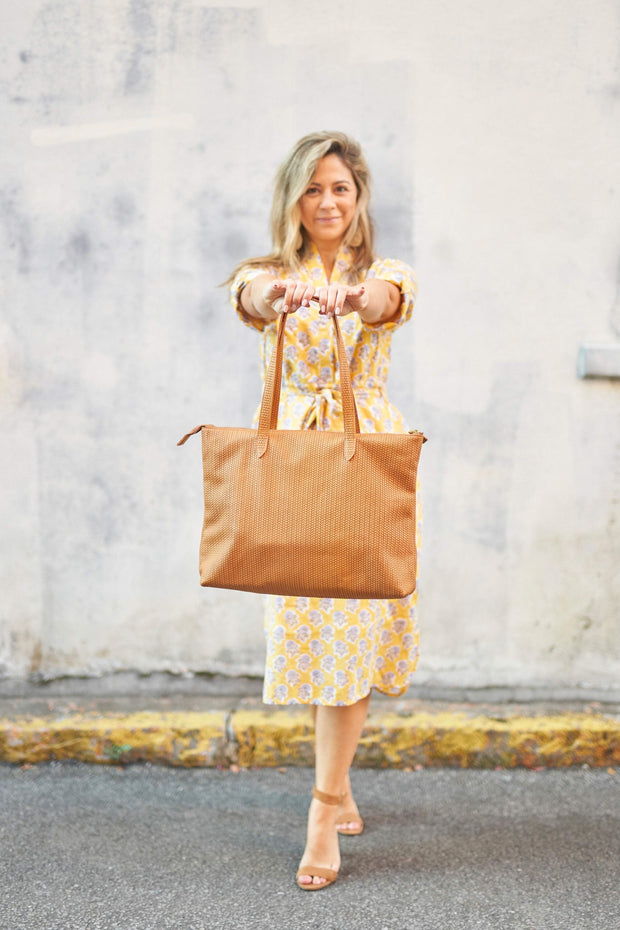 Beau & Ro Tote The Braid Tote | Tan