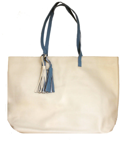 Beau & Ro Tote The Leather Weekender | Beige