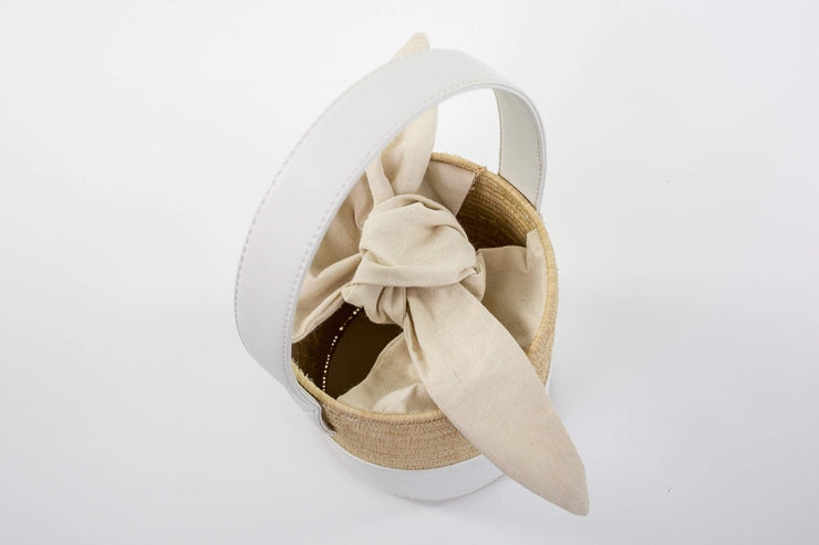 Beau & Ro Woven The Maroc Bucket | Natural + Greige