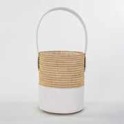 Beau & Ro Woven The Maroc Bucket | Natural + White