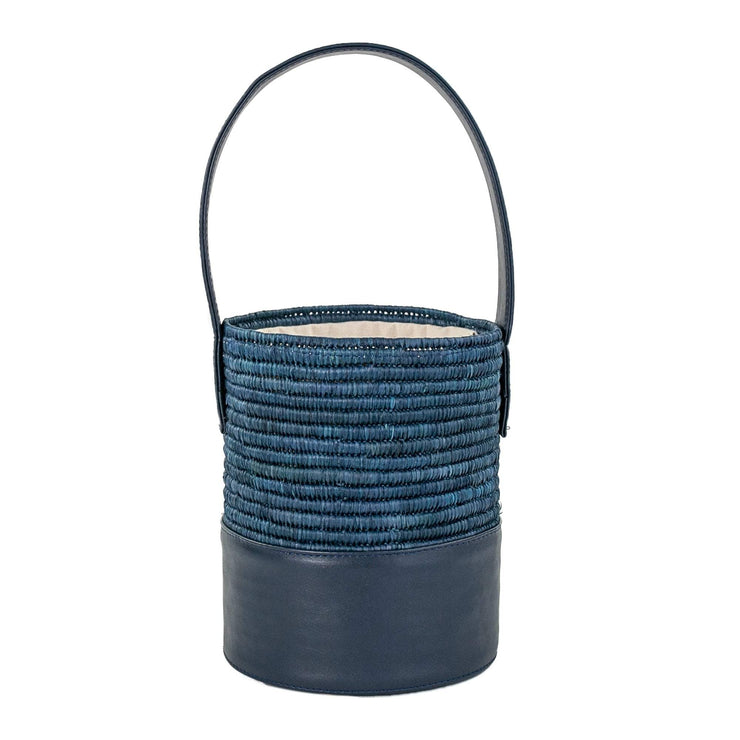 Beau & Ro Woven The Maroc Bucket | Navy