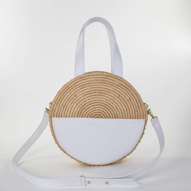Beau & Ro Woven The Maroc Circle |  Natural + White