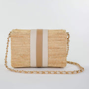 Beau & Ro Woven The Maroc Clutch | Natural + Beige