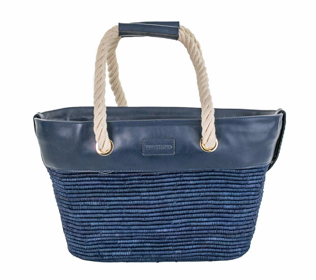 Beau & Ro Woven The Maroc Tote | Navy