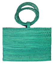 Beau & Ro Woven The Palm Bucket Tote | Green