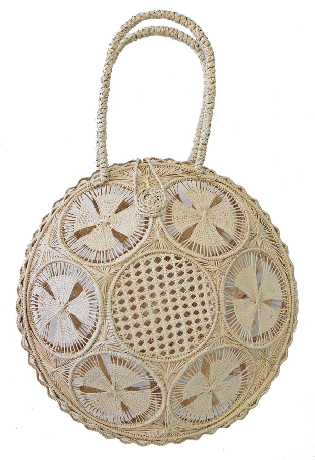 Beau & Ro Woven The Palm Panera Tote | Natural