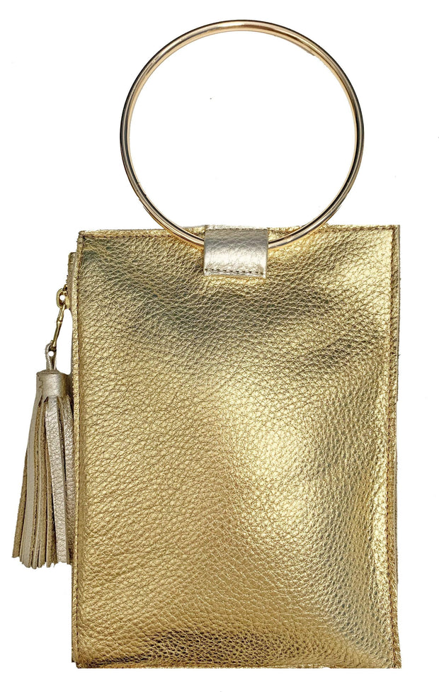 Beau & Ro Wristlet Gold The Ring Wristlet | Metallic Gold