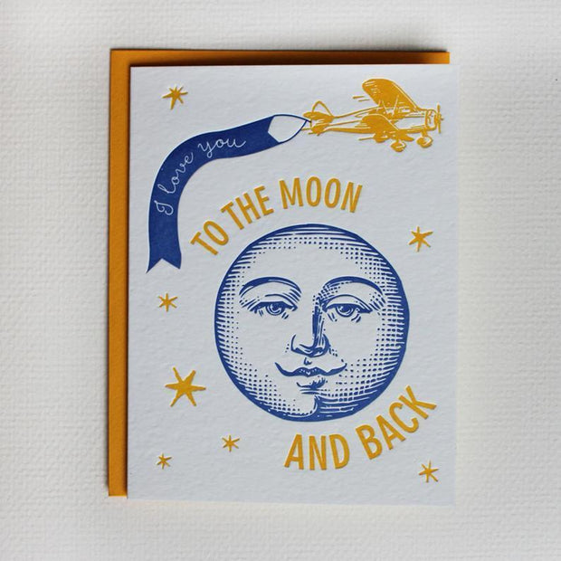 ColorboxLetterpress Card ColorBoxLetterpress | Moon