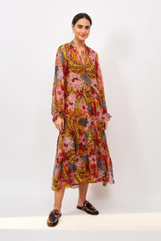 Farm Rio Apparel Farm Rio | Banana Floral Maxi Dress