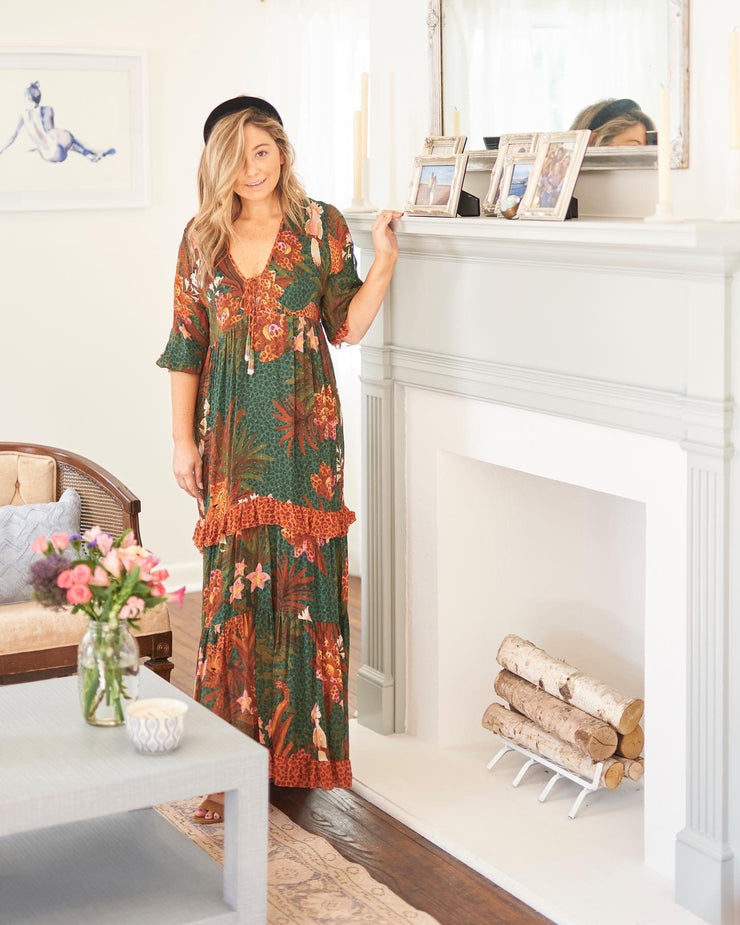 Farm Rio Apparel Farm Rio | Mix Wild Leopard Maxi Dress