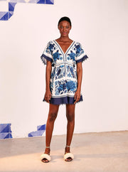 Farm Rio Apparel Farm Rio | Tropical Tiles Mini Dress