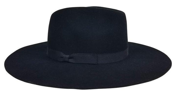 Hat Attack Hat Hat Attack | XL Glam in Black with Black Bow