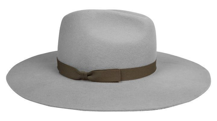 Hat Attack Hat Hat Attack | XL Glam in Light Grey with Mocha Bow