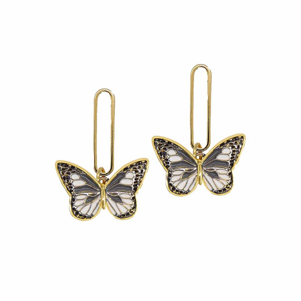 Holst + Lee Jewelry Holst + Lee | Black & White Wings Earrings