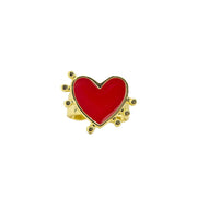 Holst + Lee Jewelry Holst + Lee | Red Heart Ring Cuff