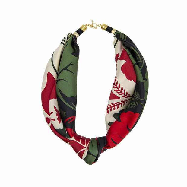 Holst + Lee Jewelry Holst + Lee | Scarf Tie Necklace in Red & Green