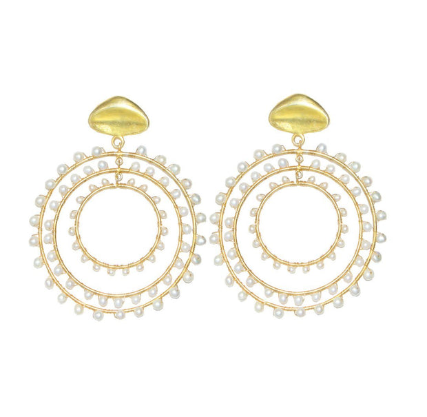 Jam + Rico Jewelry Jam + Rico | Maria Earrings in Pearl