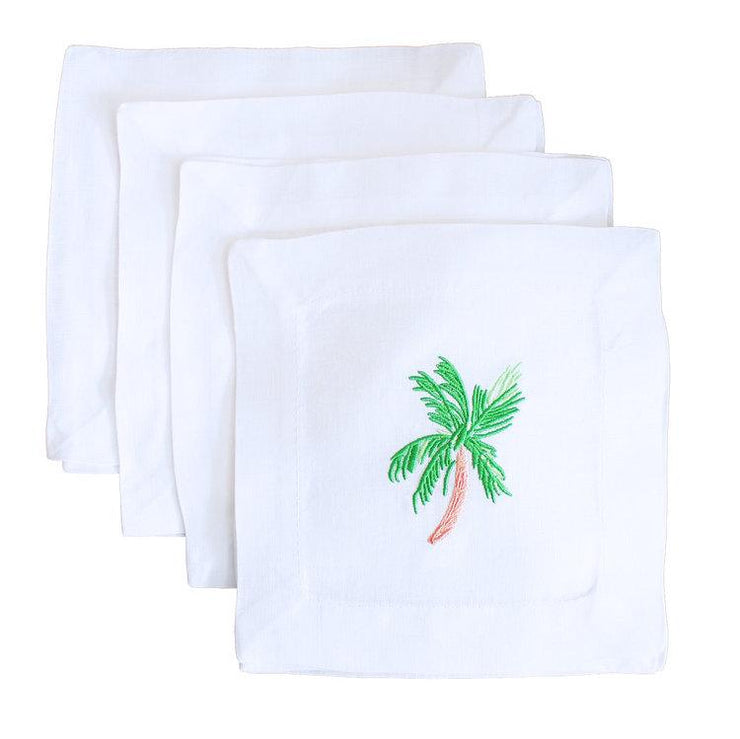 Lettermade Cocktail Napkin Lettermade | Embroidered Palm Tree Cocktail Napkins
