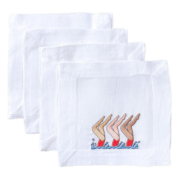 Lettermade Cocktail Napkin Lettermade | Synchronized Swimmers Cocktail Napkins