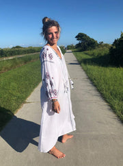 Madison Mathews Apparel Madison Mathews | Sullivan Maxi Dress in White Cotton