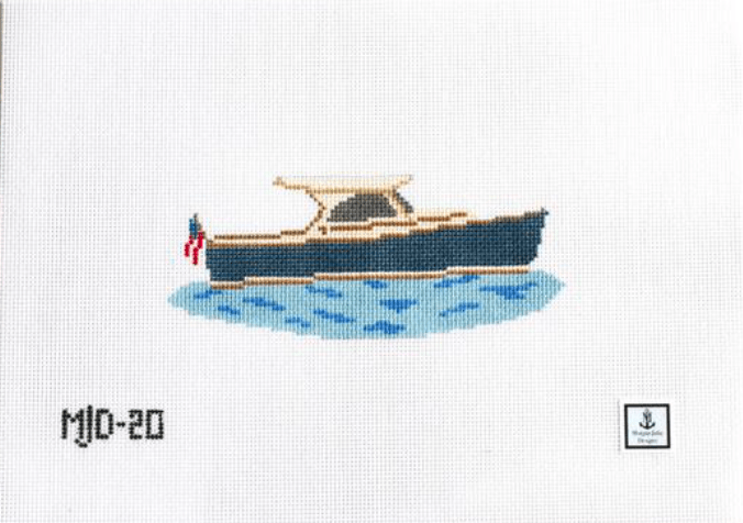 Morgan Julia Designs Needlepoint Morgan Julia Designs | Picnic Boat Needlepoint Kit