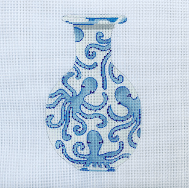 Sara Fitz Needlepoint Sara Fitz | Ginger Jar Octopus Needlepoint