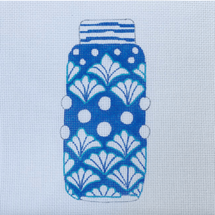 Sara Fitz Needlepoint Sara Fitz | Ginger Jar Shells Needlepoint