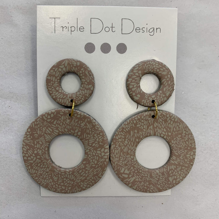 Triple Dot Design Jewelry Triple Dot Design | Blush & Creme Circles