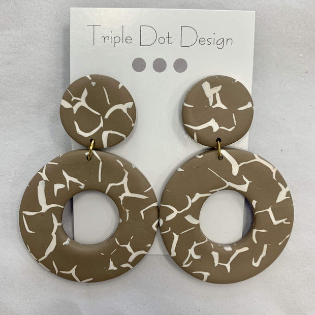 Triple Dot Design Jewelry Triple Dot Design | Creme & Tan Circles